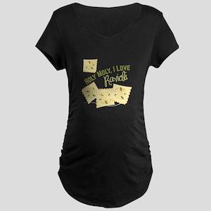I Love Ravioli Maternity T-Shirt