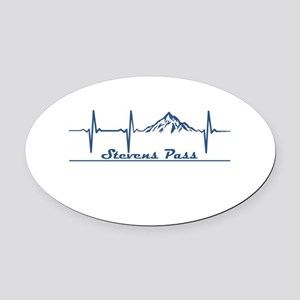 Stevens Pass Ski Area - Stevens Oval Car Magnet