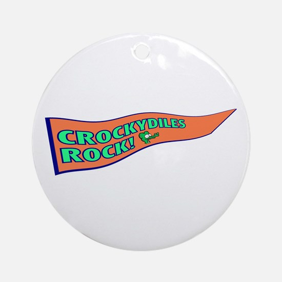 Crockydiles Rock Ornament (Round)