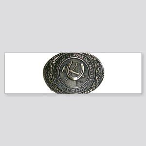 BWFA Belt Buckle Bumper Sticker