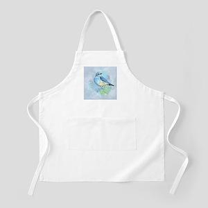 Watercolor Bluebird Blue Bird Art Apron