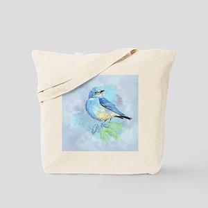 Watercolor Bluebird Blue Bird Art Tote Bag