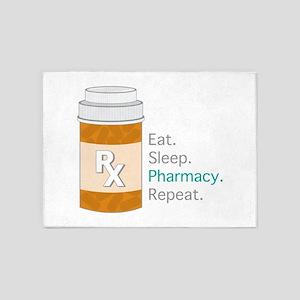 Eat Sleep Pharmacy 5'x7'Area Rug