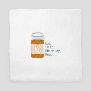 Eat Sleep Pharmacy Queen Duvet