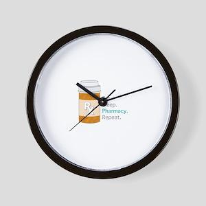 Eat Sleep Pharmacy Wall Clock