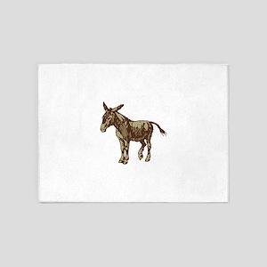 Image Donkey clip art 5'x7'Area Rug