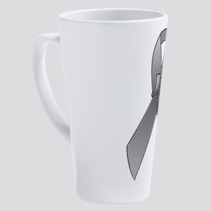 Amputee Ribbon 17 oz Latte Mug