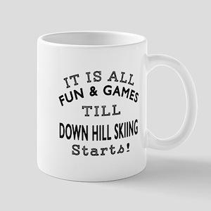 Down Hill Skiing Fun And Games Designs Mug
