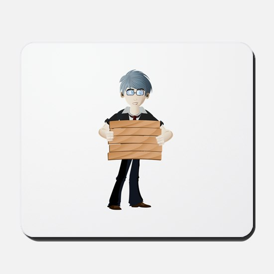 Young boy with wooden hording Mousepad