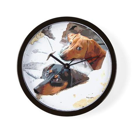 Naptime Love Dachshunds Wall Clock