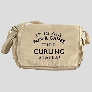 Curling Fun And Games Designs Messenger Bag