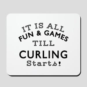 Curling Fun And Games Designs Mousepad