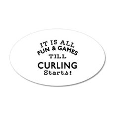 Curling Fun And Games Design Wall Decal