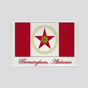 Birmingham AL Flag Rectangle Magnet