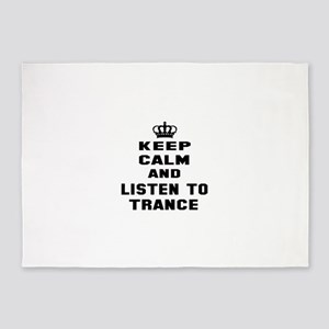 Keep calm and listen to Trance 5'x7'Area Rug