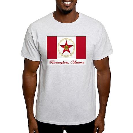 Birmingham AL Flag Light T-Shirt