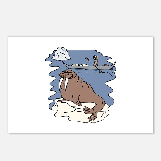 Walrus and Eskimo Postcards (Package of 8)