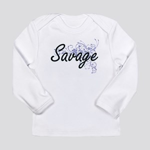 Savage surname artistic design Long Sleeve T-Shirt