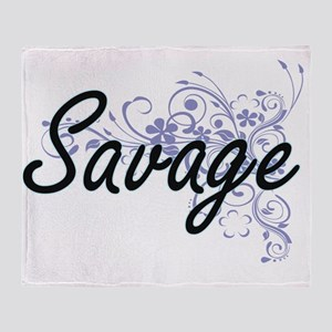 Savage surname artistic design with Throw Blanket