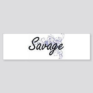 Savage surname artistic design with Bumper Sticker