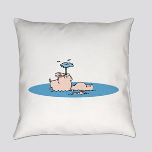 Pig Floating Everyday Pillow