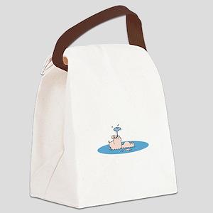 Pig Floating Canvas Lunch Bag