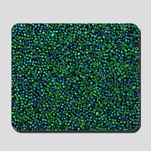 Purple Rainbow Rocaille Seed Beads Mousepad