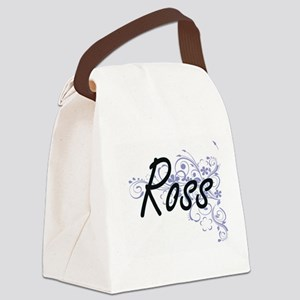 Ross surname artistic design with Canvas Lunch Bag