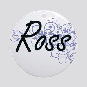 Ross surname artistic design with F Round Ornament