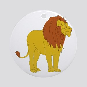 Leon With brown hair Round Ornament