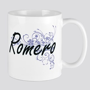 Romero surname artistic design with Flowers Mugs