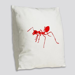 Red ant Burlap Throw Pillow