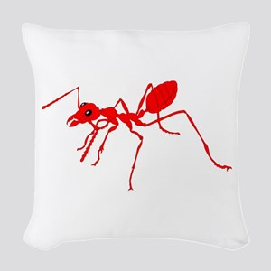 Red ant Woven Throw Pillow