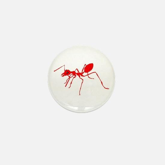 Red ant Mini Button