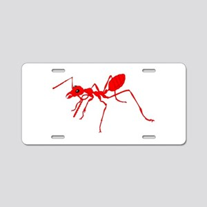 Red ant Aluminum License Plate