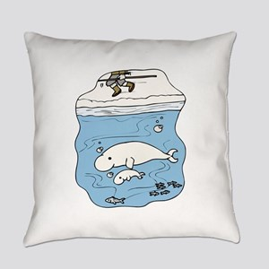 Whales Beluga Everyday Pillow