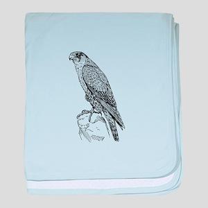 Peregrine falcon baby blanket
