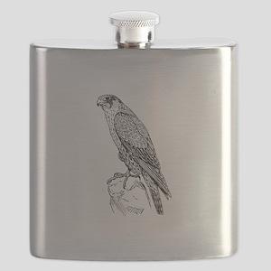 Peregrine falcon Flask