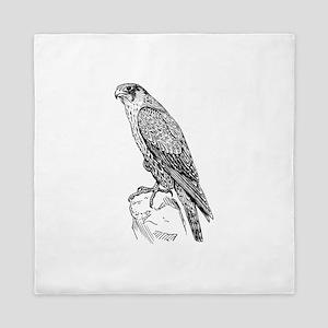 Peregrine falcon Queen Duvet