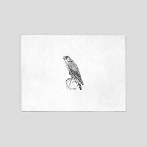 Peregrine falcon 5'x7'Area Rug