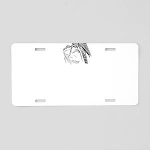Peregrine falcon Aluminum License Plate