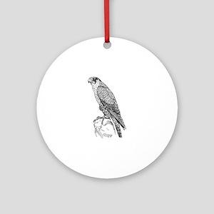 Peregrine falcon Round Ornament