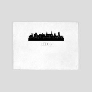 Leeds England Cityscape 5'x7'Area Rug