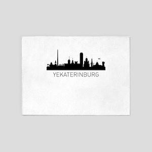 Yekaterinburg Russia Cityscape 5'x7'Area Rug