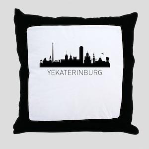 Yekaterinburg Russia Cityscape Throw Pillow