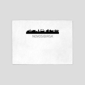 Novosibirsk Russia Cityscape 5'x7'Area Rug