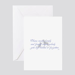 Ohana means family Greeting Cards