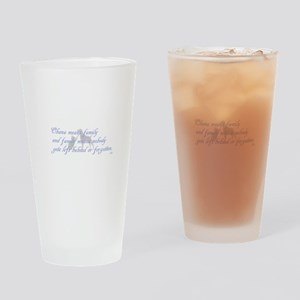 Ohana means family Drinking Glass