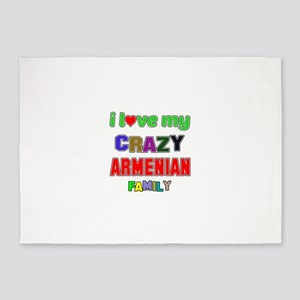 I love my crazy Armenian family 5'x7'Area Rug