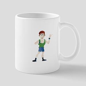 Bodybuilder cartoon Mugs
